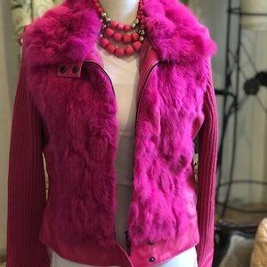 Hot pink jacket fur 🎀